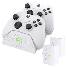 Twin Charging Dock with 2 x Rechargeable Battery Packs - White (Xbox Series X / S)