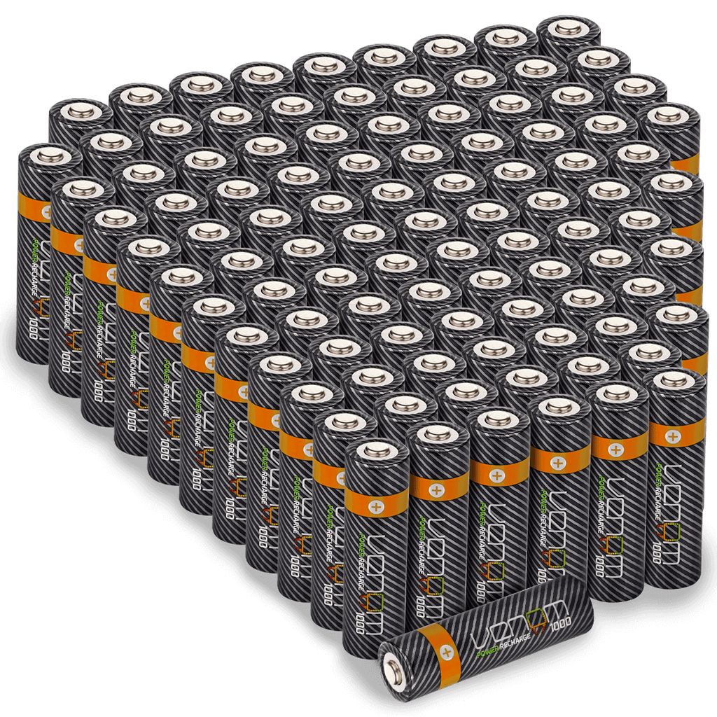Rechargeable AA Batteries - 1000mAh (100-Pack)