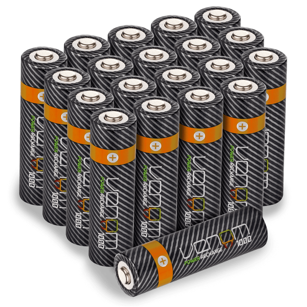 Venom Power Recharge - 1000mAh Rechargeable AA Batteries (20-Pack)
