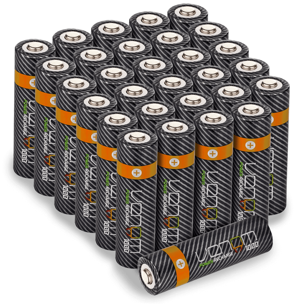 Rechargeable AA Batteries - 1000mAh (30-Pack)