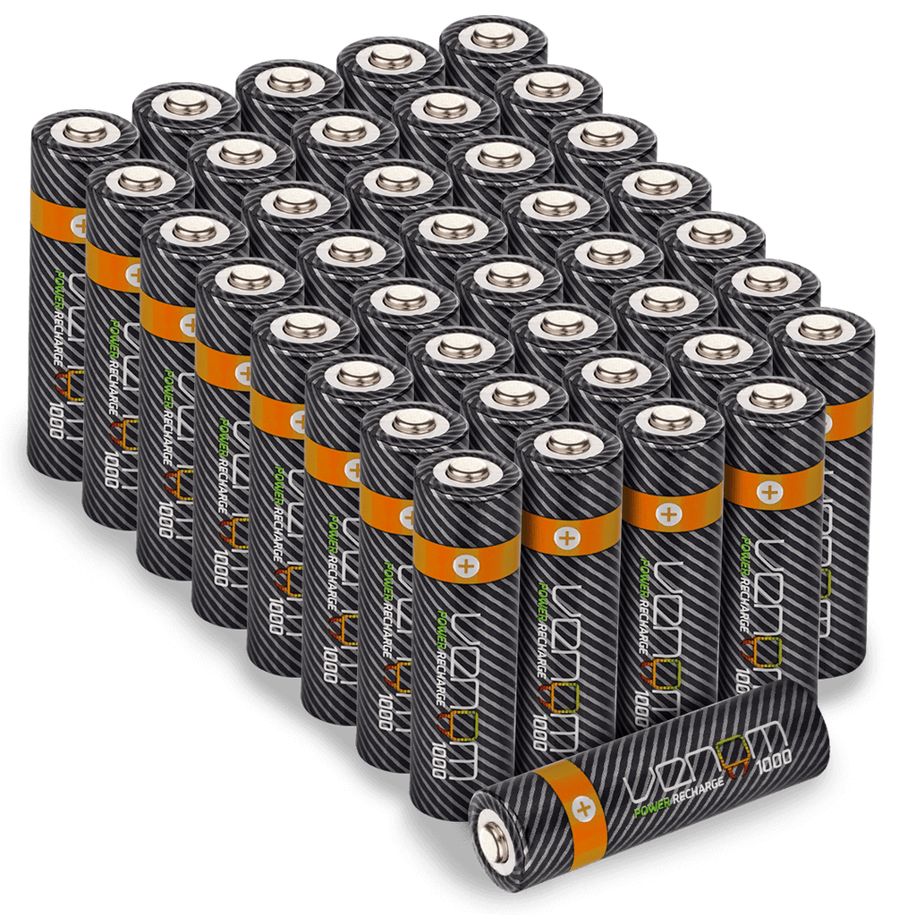 Rechargeable AA Batteries - 1000mAh (40-Pack)