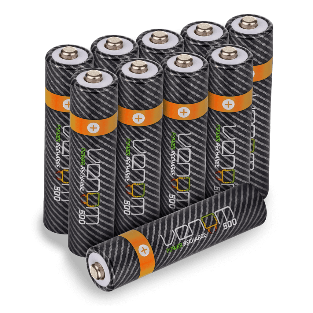 Venom Power Recharge - 500mAh Rechargeable AAA Batteries (10-Pack)