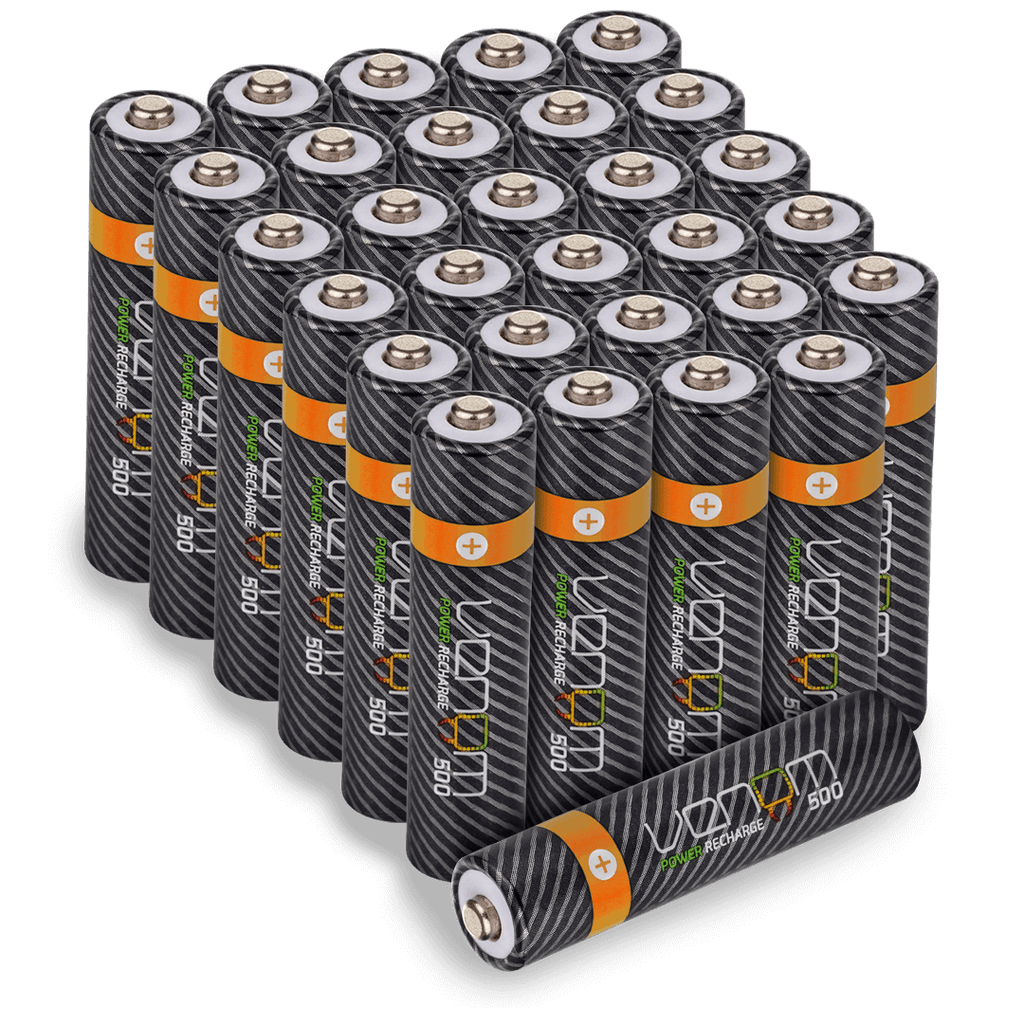 Rechargeable AAA Batteries - 500mAh (30-Pack)