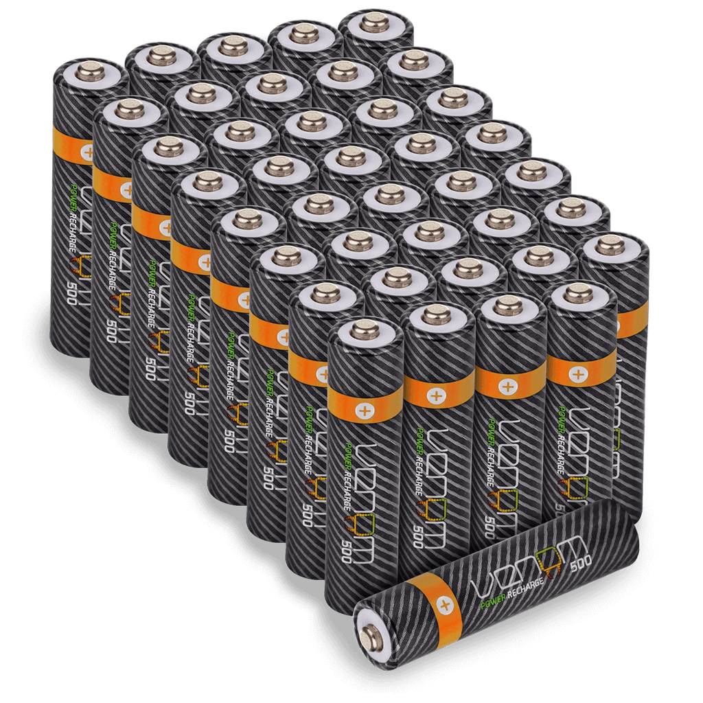 Rechargeable AAA Batteries - 500mAh (40-Pack)