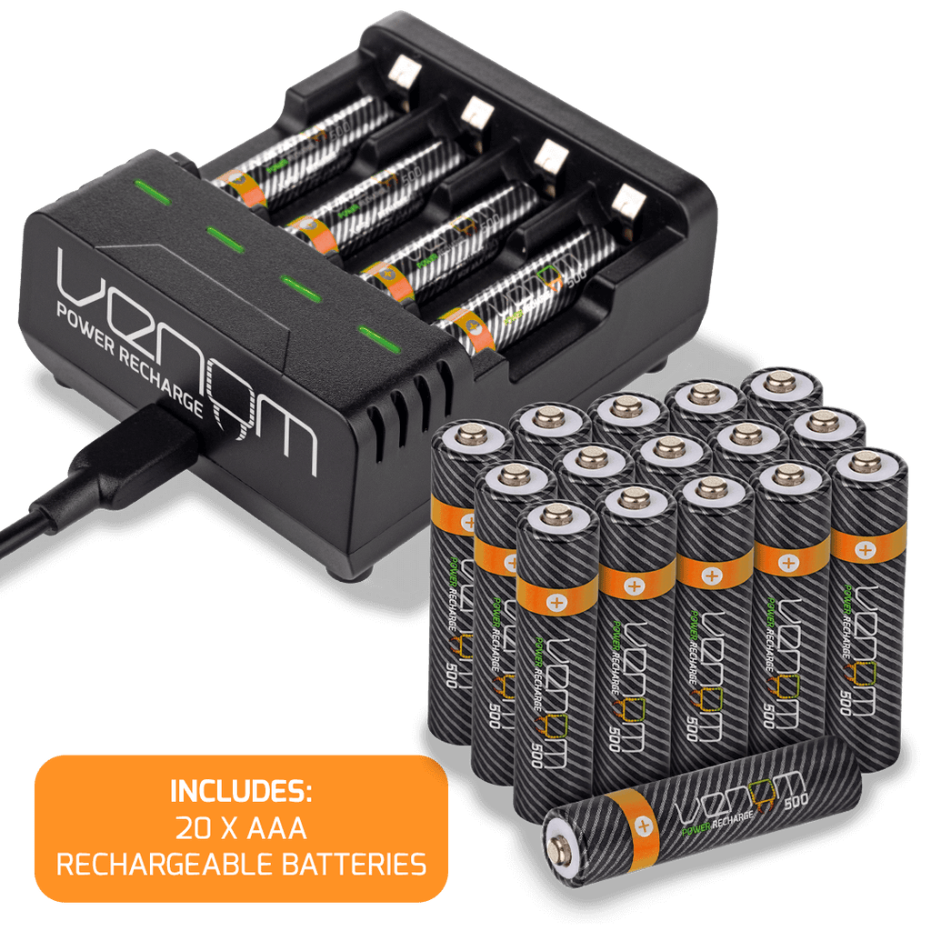 Rechargeable Battery Charging Dock plus 20 x AAA 500mAh Rechargeable Batteries