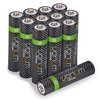 High Capacity Rechargeable AAA Batteries - 800mAh (12-Pack)