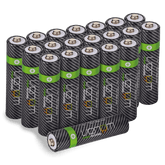 High Capacity Rechargeable AAA Batteries - 800mAh (20-Pack)