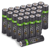 High Capacity Rechargeable AAA Batteries - 800mAh (24-Pack)