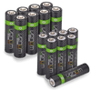 High Capacity Rechargeable AA and AAA Batteries (Includes 8 x AA plus 8 x AAA)