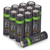 High Capacity Rechargeable AA Batteries - 2100mAh (12-Pack)