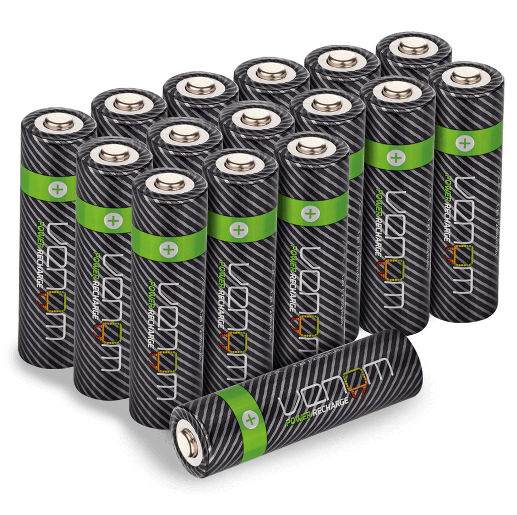 Venom Power Recharge - 2100mAh High Capacity Rechargeable AA Batteries (Pack of 16)