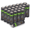 High Capacity Rechargeable AA Batteries - 2100mAh (24-Pack)
