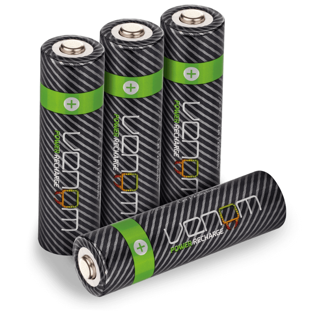 Venom Power Recharge - 2100mAh High Capacity Rechargeable AA Batteries (Pack of 4)
