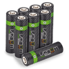 High Capacity Rechargeable AA Batteries - 2100mAh (8-Pack)