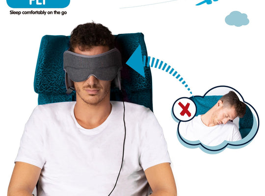 NapUp Fly Plus: In-Flight Head Support System with Integrated Headphones