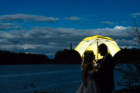 Irish love wedding umbrella by Angelina's artventures