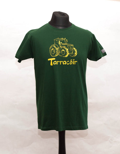 Green Tractor t-shirt tarracóir by Angelina Foster