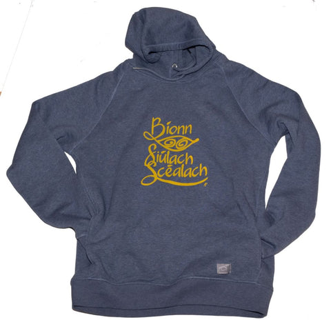Irish Language Travel Hoodie Organic Gaeilge