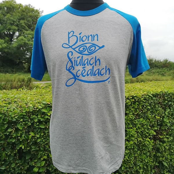 Irish language travel t-shirt as gaeilge