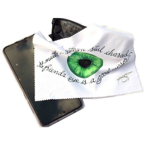 Irish language Glass Cleaning Cloth
