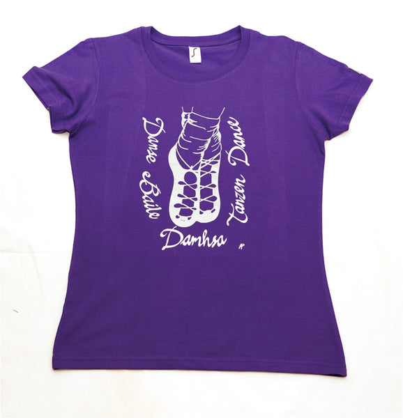Irish language European Irish dance purple ladies t-shirt