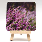 Purple heather coaster