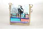 Horse jump messenger shoulder bag