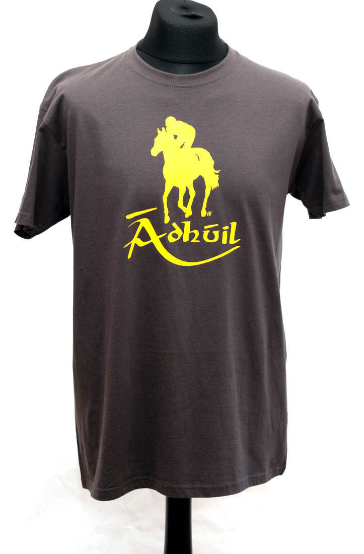 men grey lucky horse t-shirt Irish language