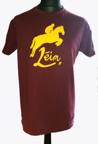 Léim tléine Horse heritage jump Irish language t-shirt