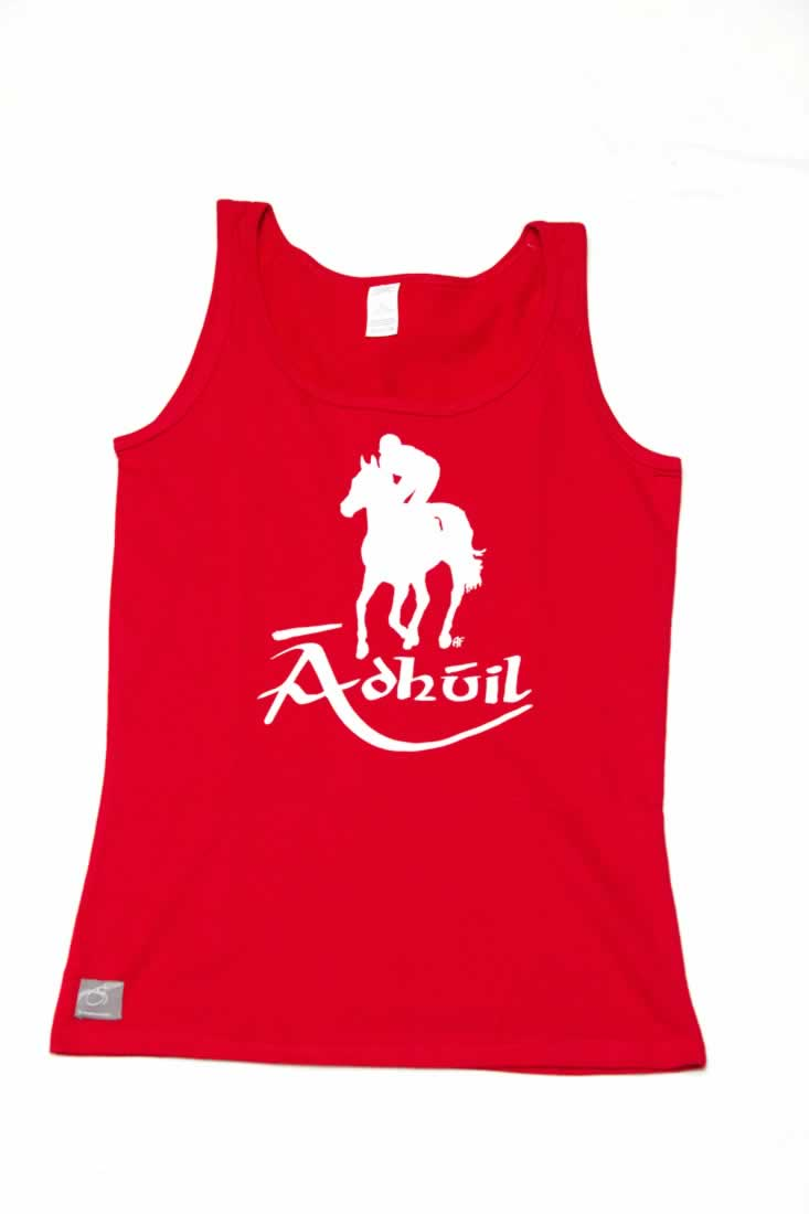 Red lucky horse irish language tank top