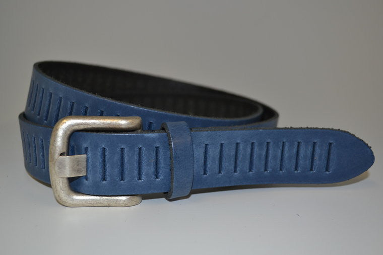 Scotts Bluf Blauwe perforatie riem 30721 - topkidsfashion