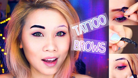 New Peel-off Eye Brow Tattoo