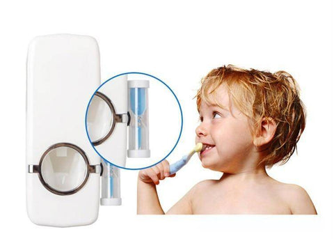 Image of TOOTHBRUSH WALL MOUNT & TOOTHPASTE DISPENSER (SPECIAL BUNDLE SALE!) - TRENDY DEALS