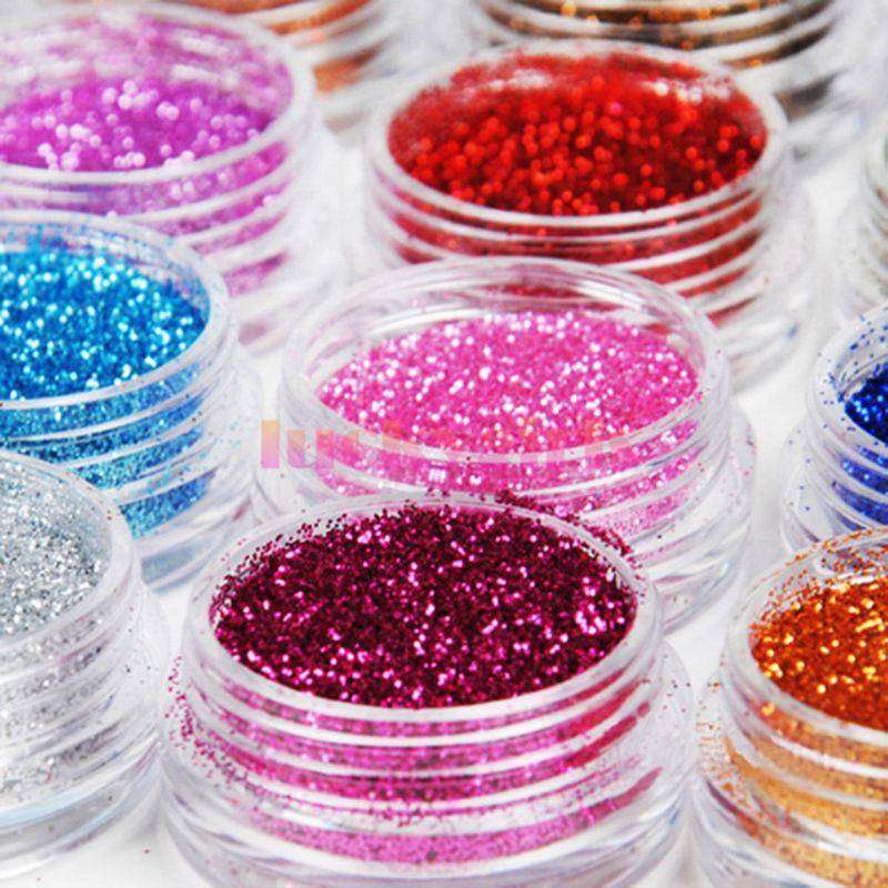 18 Colors Mix UV Gel Nail Art Glitter - TRENDY DEALS