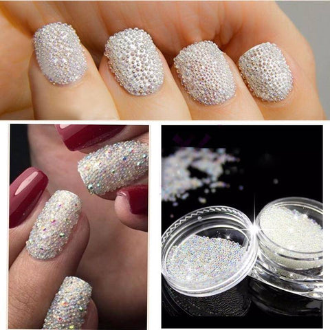 Image of Mini Caviar Nail Art Decoration Rhinestones - TRENDY DEALS