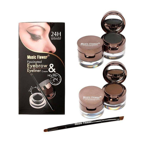 4 in 1 Brown+ Black Eyebrow Powder Make Up - TRENDY DEALS