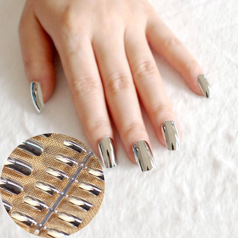 silver fake nails – TRENDY DEALS