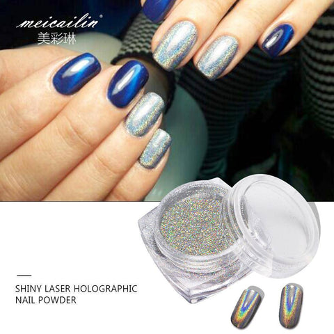 Image of Shiny Laser Nail Holographic Powder - TRENDY DEALS