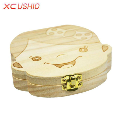 Image of Wood Baby Tooth Box Organizer