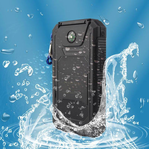 10000 mAh Waterproof Solar Charger Power Bank