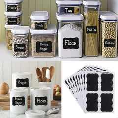 36pcs Fancy Black Board Kitchen Labels Stickers