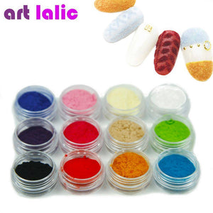 12 Color 3D Flocking Powder Nail - TRENDY DEALS