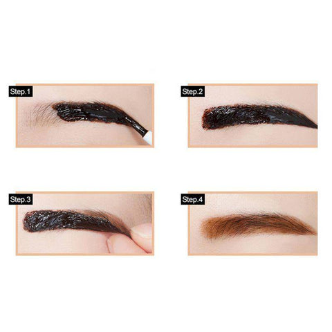 Image of 3 Color Beauty Peel-off Eyebrow Tint
