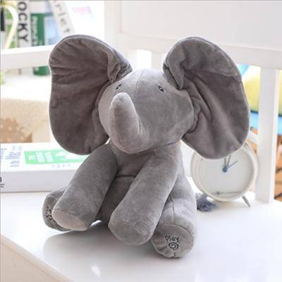 Peek-a-boo Plush Elephant