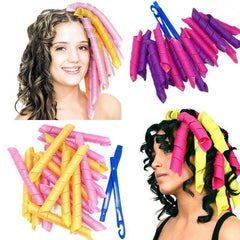 Hair Rollers 18pcs Rollers + 2 hook sticks