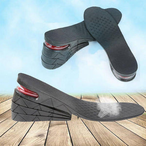 9cm Height Increase Shoe Insole Adjustable 4-layer PVC Stealth Heel