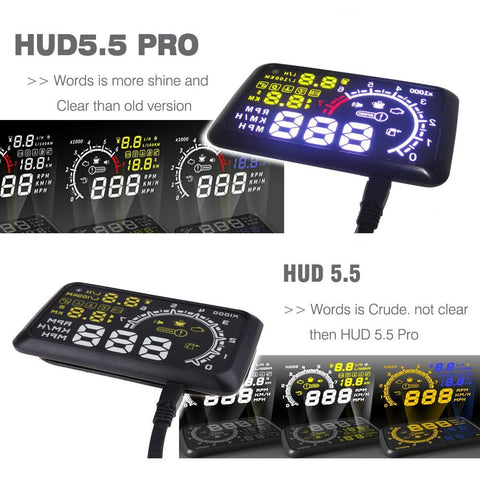 HUD Windshield Speed Projector