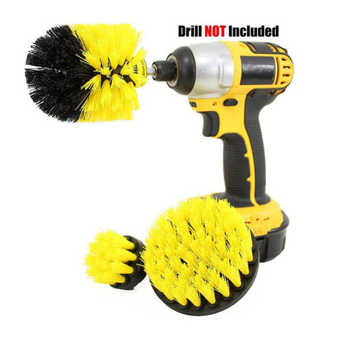 Image of 3pcs/set Electric Drill Power Scrubbing Brush Kit