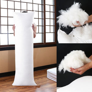 100% FEATHER Fill Vertical Full Body Hugging Pillow