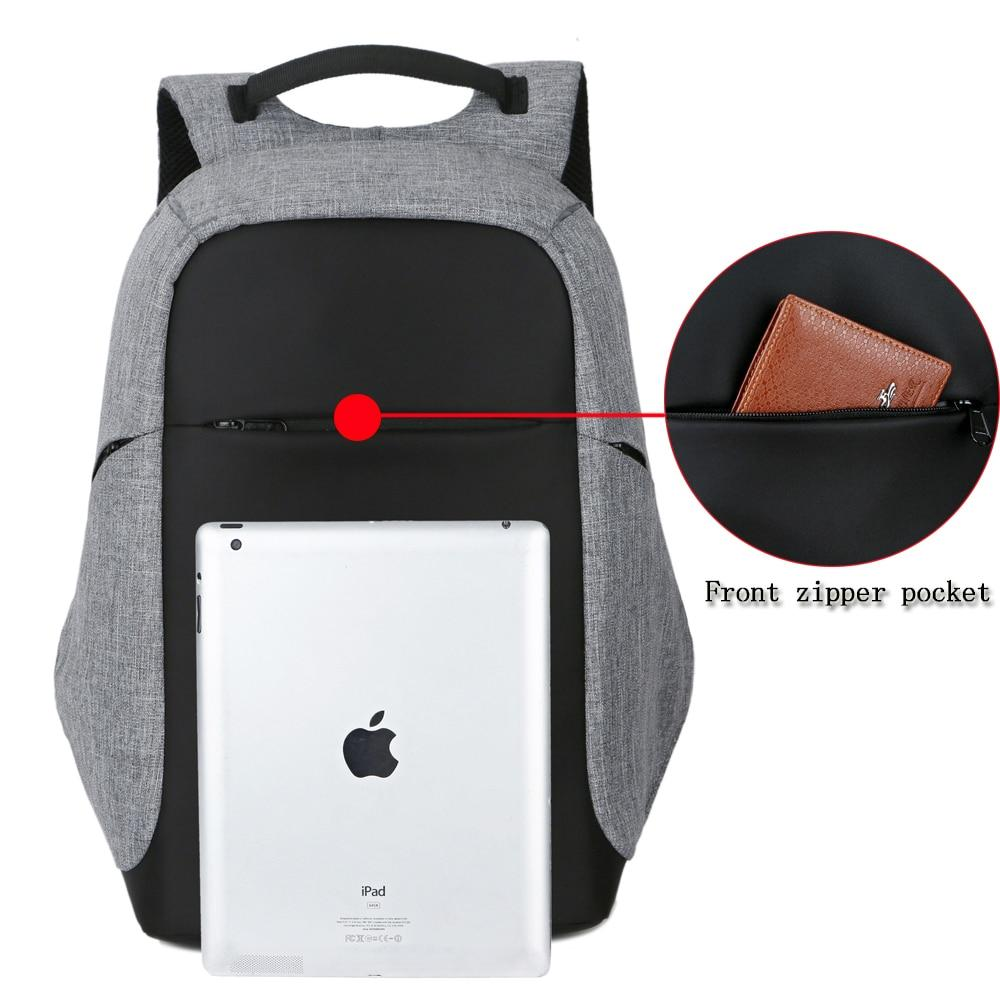 "Anti-Theft Backback with USB charging for 15"" Laptops"